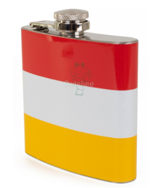 Oeteldonk heupfles/flacon rood wit geel