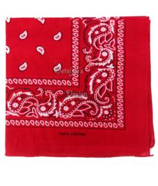 Boeren zakdoek rood (59x59 cm)