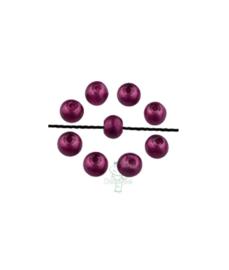 Glasparels diep paars rond 6 mm