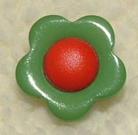 Kinderknopen - Bloem groen