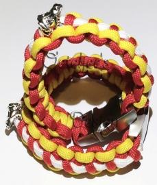 Armband Oeteldonk paracord Bracelet Deluxe met kikker bedel