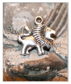 Bedel - Leeuw metaal oudzilverkleur