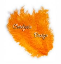 Floss veren (zwarte piet veren) oranje