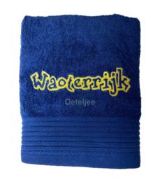 """Geborduurde handdoek """"Waoterrijk"""""""