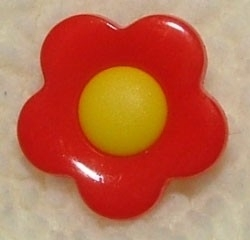 Kinderknopen - Bloem rood