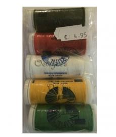 Pakketje naaigaren Oeteldonkse kleuren