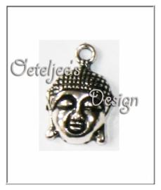Bedel - Metaal boeddha nikkelkleur