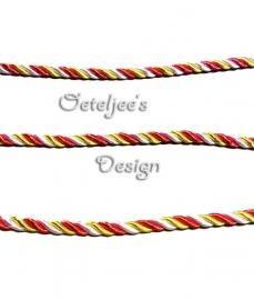 Koord rood wit geel Oeteldonk 6mm