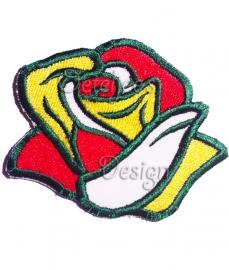 Geborduurde Oeteldonkse roos