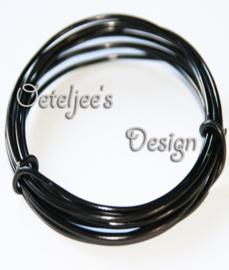 Aluminium sieraden draad zwart