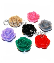 Acryl kralen Roosjes - diverse kleuren