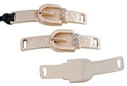 Metalen hanger/tussenzetsel gesp/riem met strass