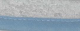 Biasband lichtblauw 40 mm gevouwen en ongevouwen