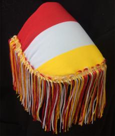 Epauletten  rood wit geel en rood wit gele franjeband