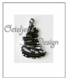 Bedel - Zeilschip metaal oudzilverkleur
