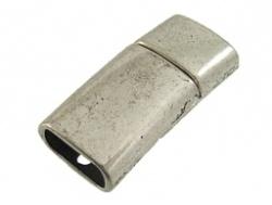 Metalen magneetslot oudzilverkleur
