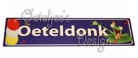 Oeteldonk straatnaam bordje met kikker op blad