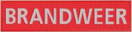 Geborduurde badge brandweer reflecterend