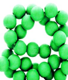Acryl kralen mat rond 8mm natural fel groen