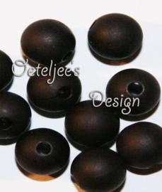 Acryl kralen Mat zwart  8 mm rond