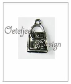 Bedel - Tasje enveloppe model metaal oudzilverkleur