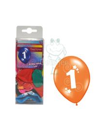 Ballonnen set verjaardag 1 jaar
