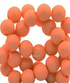 Acryl kralen mat rond 6 mm dark orange