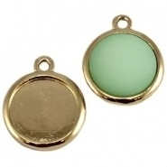 Cabochon / camee setting Warm goud (Gold plated