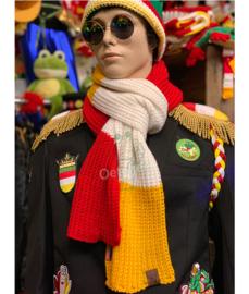 Gebreide sjaal Oeteldonksche Club zonder franjes
