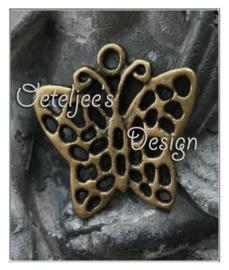 Bedel - Vlinder open bewerkt oudbronskleur