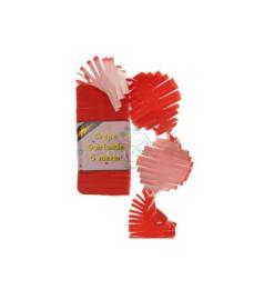 Crepepapier (guirlande) rood-wit (5 m)