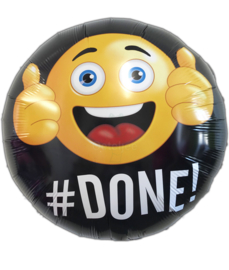 Folie ballon smiley met duimpjes omhoog #Done!