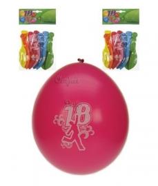 Ballonnen verjaardag 18 jaar