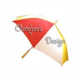 Oeteldonk paraplu rood, wit en geel