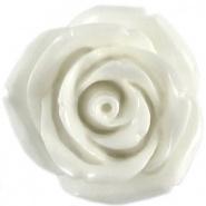Kraal roos 11 mm Wit