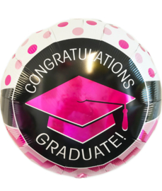 "Folie ballon geslaagd met tekst Congratulations ""Graduate!"""