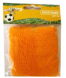 Zweetbandje polsbandje oranje