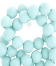 Acryl kralen mat rond 8mm matt Bleached aqua blue