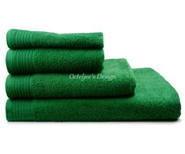 Geborduurde handdoek met eigen naam of tekst groen