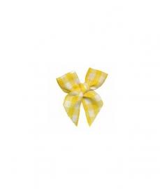 Strikje geruit geel-wit