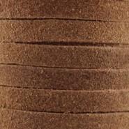 DQ Leer suede Bruin 3mm