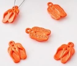Bedel - Slipper metaal fel oranje