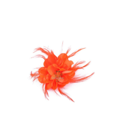 Broche bloem oranje
