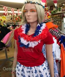 Hawaii slinger/krans rood wit of blauw Holland