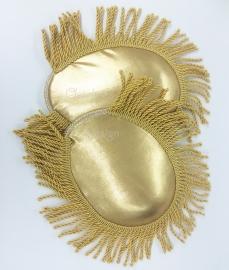 Epauletten matgoud met luxe gouden band