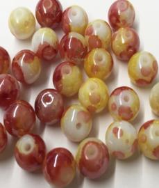 Glaskraal Oeteldonk rood wit geel 6 mm
