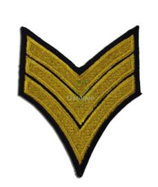 Geborduurde militaire strepen goud