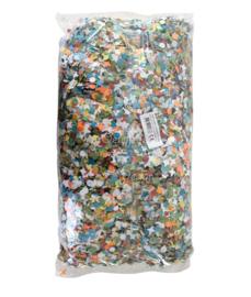 Confetti zak 1 kilo kantig bont