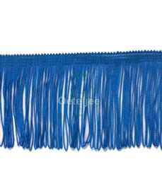 Franjeband koningsblauw / royal blue 75mm