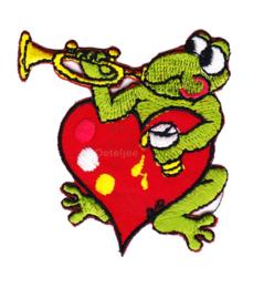 Oeteldonk embleem Oetel op hart met trompet